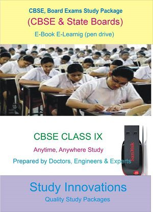 CBSE Class 9th Science (Physics, Chemistry, Biology) & Mathematics Study Material.
