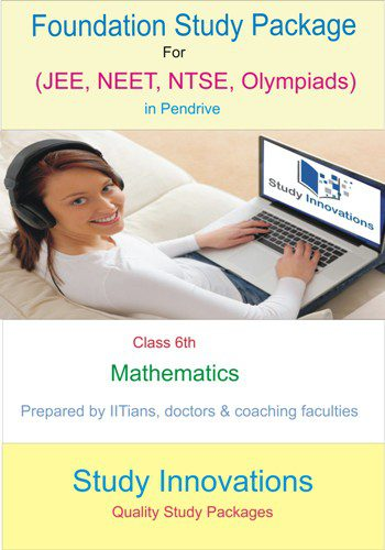 Class 6th Math Study Material for JEE Foundation, NEET Foundation, CBSE Foundation