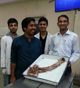 Dr. R. Singh at AIIMS Research & Training Lab with AIIMS Doctors Team in AIIMS, New Delhi (2014)